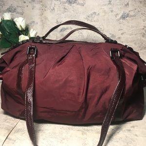 HOBO International nylon and leather travel bag